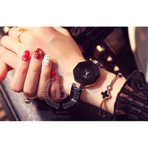 Đồng hồ nữ gogoey billux dây da 30mm 4 màu ggemt002