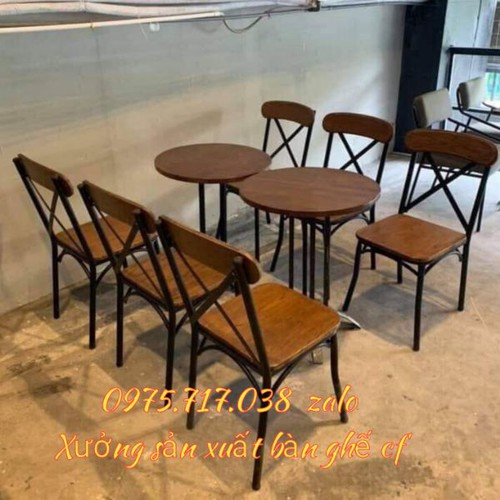 Bàn ghế cafe sân vườn thanh lý giá rẻ