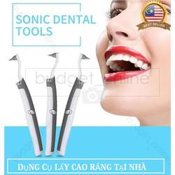 Dụng cụ lấy cao răng tại nhà Tặng kèm pin theo máy - Có video thực tế