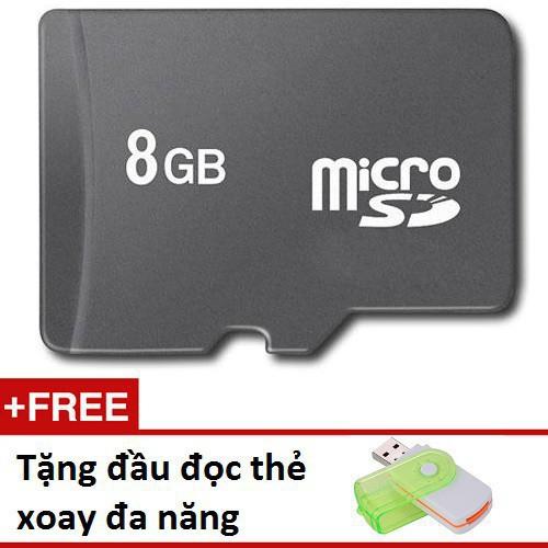 Super sale thẻ nhớ micro sd 8gb tặng đầu đọc xoay đa năng td