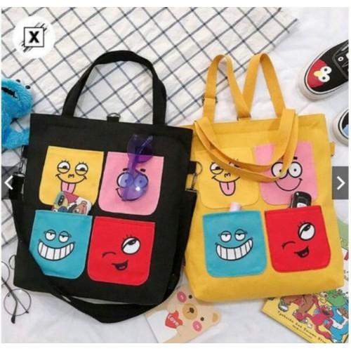 Túi tole thời trang - 4 mặt cười