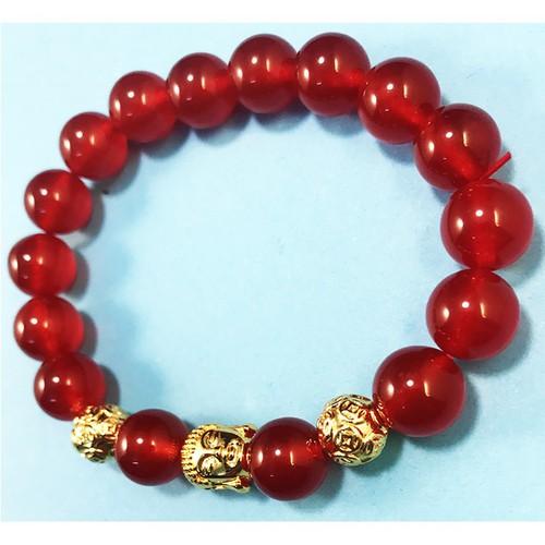 Vòng tay nữ cá tính đá thạch anh đỏ tươi mix mặt phật vàng kim tiền vòng tay phong thủy thời trang may mắn hợp mệnh thổ mệnh hỏa vòng tay nữ handmade cá tính vòng tay đá tự nhiên đẹp nhất