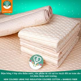 Đệm bông sợi tre bamboo thấm hút nước cho bé, chất liệu an toàn, khử mùi kháng khuẩn - ĐỆM 100X60 CM