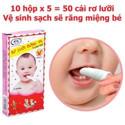 Combo 10 hộp rơ lưỡi cho bé sơ sinh, đồ cho bé, dụng cụ vệ sinh răng miệng cho bé