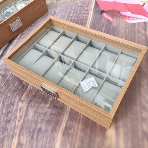 Hộp đựng đồng hồ trang sức 12 ngăn bằng gỗ cao cấp - 17566333 , 23106970 , 15_23106970 , 350000 , Hop-dung-dong-ho-trang-suc-12-ngan-bang-go-cao-cap-15_23106970 , sendo.vn , Hộp đựng đồng hồ trang sức 12 ngăn bằng gỗ cao cấp