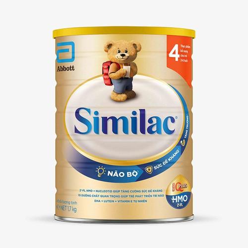 Sữa similac iq plus hmo số 4 gold - 1700g cho bé từ 2-6 tuổi