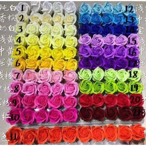 Hoa sáp thơm hộp 50 đầu bông 3 lớp giá rẻ