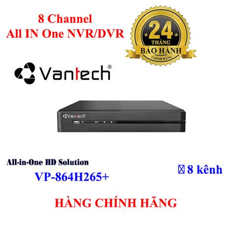 Đầu ghi hình camera 8 kênh all in 1 vantech vp-864h265+