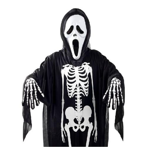 Trang phục hóa trang halloween áo bộ xương mặt nạ bao tay