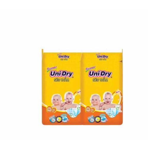 Combo 2 bịch tã dán unidry s46-m42-l 38-xl 34 miếng