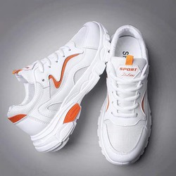 Giày Bata Nữ Trắng Sneaker Thể Thao