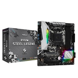 Mainboard ASRock B450M Steel Legend - ASRock B450M Steel Legend