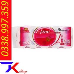 Giấy vệ sinh Elene hồng 3 lớp 10 cuộn