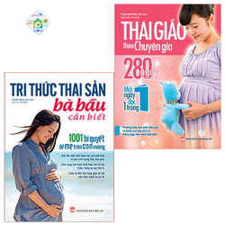 Combo Sách: Tri Thức Thai Sản Bà Bầu Cần Biết + Thai Giáo Theo Chuyên Gia - 280 Ngày Mỗi Ngày Đọc 1 Trang