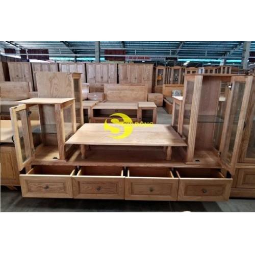 Tủ tivi lệch gỗ sồi 1m8
