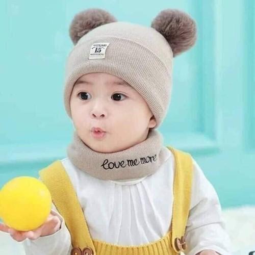 Sét mũ len 2 quả bông kèm khăn cho bé yêu - 20385015 , 23140500 , 15_23140500 , 55000 , Set-mu-len-2-qua-bong-kem-khan-cho-be-yeu-15_23140500 , sendo.vn , Sét mũ len 2 quả bông kèm khăn cho bé yêu