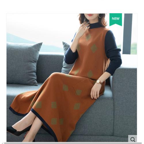 Đầm suông len thời trang thu đông phong cách hàn hiệu tosige