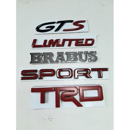 Logo dán xe hơi chữ nổi 3d bằng hợp kim