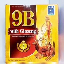 [hàng chính hãng ] Combo 2 hộp Vitamin 9B with Ginseng Giúp bồi bổ cơ thể , tăng cường sức đề kháng , kích thích tiêu hóa
