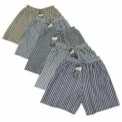 COMBO 5 quần đùi nam mặc nhà lưng thun, form rộng thoải mái, phối sọc caro đẹp mắt