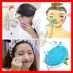 Combo 2 Miếng Rửa mặt,Bông tắm, nón tắm, mút rửa mặt