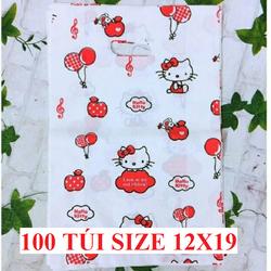 100 Túi NILON HD họa tiết đẹp - Túi xốp in họa tiết đựng hàng cực đẹp, chất lượng bao đẹp - Họa tiết ngẫu nhiên