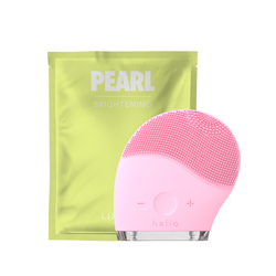 Combo Máy Rửa Mặt Và Mát Xa Da Mặt Halio Và Mặt Nạ Lixibox - Pearl