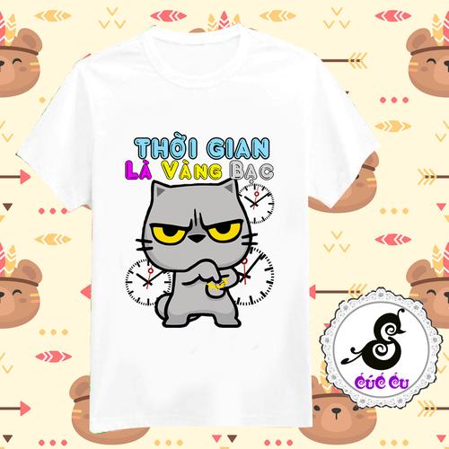 Áo thun mèo biểu cảm