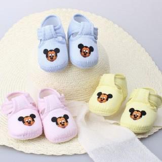 Giày tập đi thêu chuột mikey cho bé - KTB00070 thumbnail