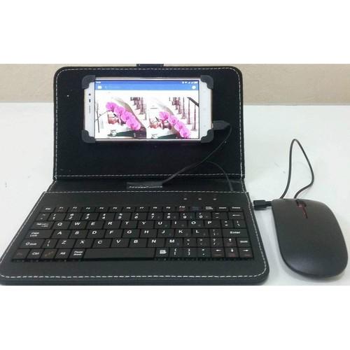 Combo bao da bàn phím kèm chuột lót chuột cho điện thoại máy tính bảng từ 4 5 8 inch hàng xả hết