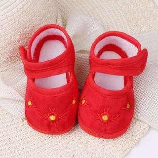 Giày tập đi vải thêu hoa cho bé - KTB00072 thumbnail