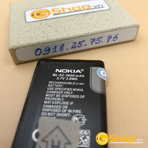 Pin nokia 5030, bl-5c, 1020mah thường mới loại 1