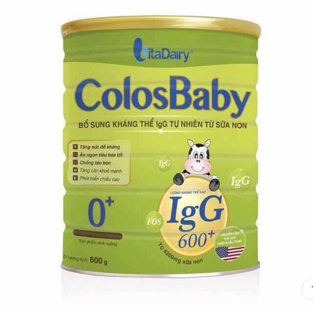 Sữa colosbaby igg 600 số 0 800g
