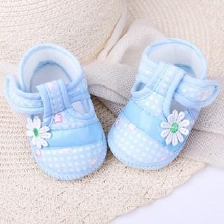 Giày tập đi vải gắn hoa cho bé - KTB00073 thumbnail