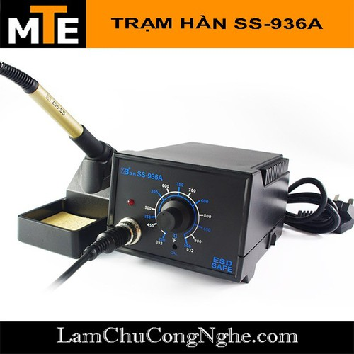 Máy hàn, trạm hàn điều chỉnh nhiệt độ ss-936a - dây silicone chống cháy