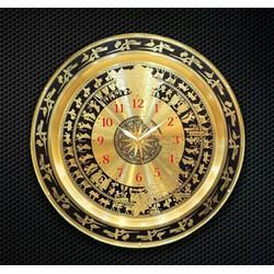đồng hồ mặt trống đồng bằng đồng