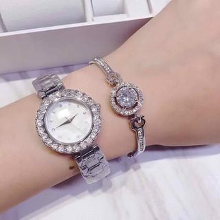 Đồng hồ nữ tặng lắc tay - đồng hồ nữ thumbnail