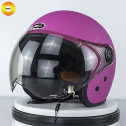 Mũ bảo hiểm có kính|Full màu | GRO 3-4 chính hãng | Mũ hở mặt | Kính lượn