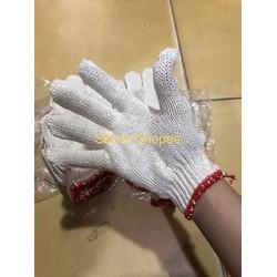 Combo 10 đôi găng tay bảo hộ sợi len màu xám hoặc kem