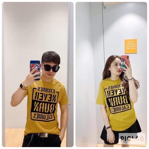 Áo đôi nam nữ màu vàng siêu hot ảnh thật