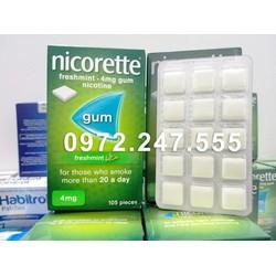 Kẹo cao su Nicotine Nicorette 4mg bạc hà 105 viên Cai Thuốc Hà Nội Hồ Chí Minh