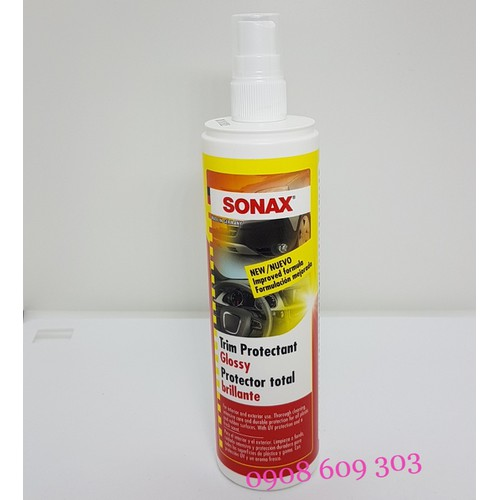 Chai xịt bảo dưỡng nhựa trong và ngoài xe sonax trim protectant protector total 300ml - 17782160 , 23174103 , 15_23174103 , 165000 , Chai-xit-bao-duong-nhua-trong-va-ngoai-xe-sonax-trim-protectant-protector-total-300ml-15_23174103 , sendo.vn , Chai xịt bảo dưỡng nhựa trong và ngoài xe sonax trim protectant protector total 300ml