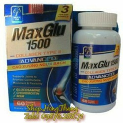 maxglu 1500 hỗ trợ xương khớp phục hồi giảm đau ngăn thoái hóa khớp
