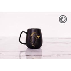 Cốc trà đen Cô gái áo dài 0.3L SSC013A7 Sứ Sương