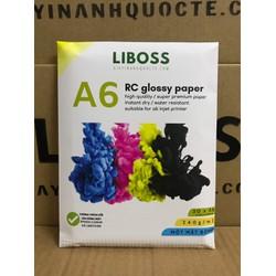 Giấy in ảnh RC LiBOSS cao cấp chống nước, bền màu, lâu phai - Khổ A6 Glossy - Bóng