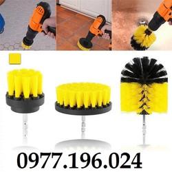 Bộ 3 đầu cọ bàn chải gắn máy Khoan cầm tay – Dụng cụ vệ sinh nhà cửa nội thất