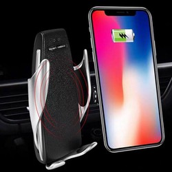 Giá đỡ điện thoại kèm sạc không dây trên ô tô Homestar S5 - Cảm ứng đóng mở