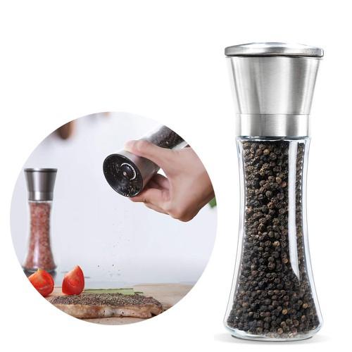 Dụng cụ xay tiêu cầm tay cối xoay tiêu cầm tay viền inox cối bằng sứ dễ dàng sử dụng