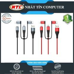 Cáp sạc 4 đầu Hoco X38 Cool 4-in-1 Lightning x2, Micro-USB, Type-C [điện áp 2.4A, dài 1M]