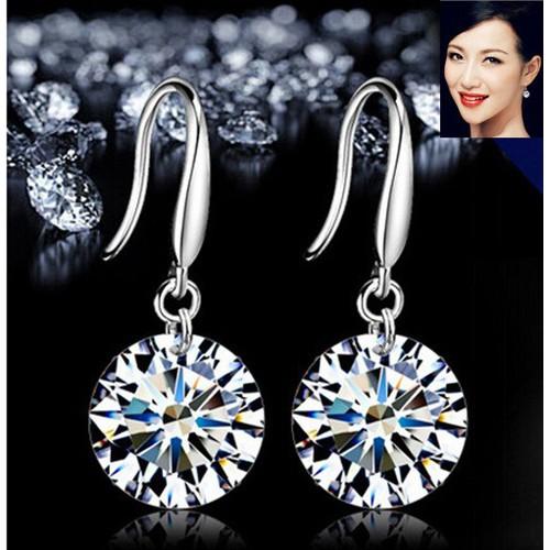Khuyên tai nữ htn86 phối hạt kim cương đính đá hot